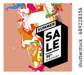summer sale colorful style... | Shutterstock .eps vector #689228356