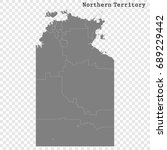 high quality map of northern... | Shutterstock .eps vector #689229442