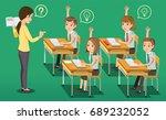 intensive classroom education... | Shutterstock .eps vector #689232052