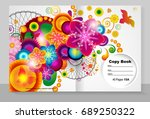 template cover of a copybook... | Shutterstock .eps vector #689250322