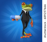 fun frog   3d illustration | Shutterstock . vector #689257666