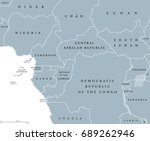 west central africa countries... | Shutterstock .eps vector #689262946
