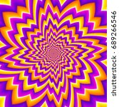 colorful yellow and purple... | Shutterstock .eps vector #689266546