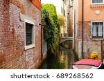 narrow canals are famous and... | Shutterstock . vector #689268562