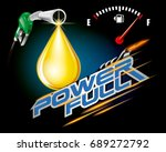 gas pump nozzles with drop oil... | Shutterstock .eps vector #689272792