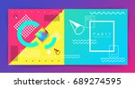 party invitation template.... | Shutterstock .eps vector #689274595