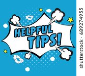 helpful tips pop art | Shutterstock .eps vector #689274955