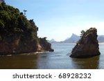 Islets in Rio de Janeiro, Brazil - stock photo