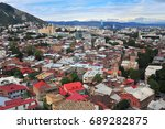top view of tbilisi historical... | Shutterstock . vector #689282875