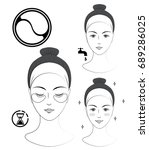 instruction  how to apply... | Shutterstock .eps vector #689286025