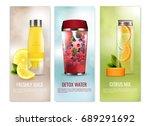 detox drinks set of vertical... | Shutterstock .eps vector #689291692