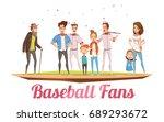 baseball fans design concept... | Shutterstock .eps vector #689293672