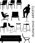 vector   chair set design... | Shutterstock .eps vector #6892972