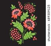 flower background.  the vector... | Shutterstock .eps vector #689309125