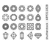 diamond shapes set. geometric... | Shutterstock . vector #689311828