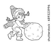 coloring book for children ... | Shutterstock .eps vector #689323996