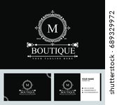luxury logo template in vector... | Shutterstock .eps vector #689329972