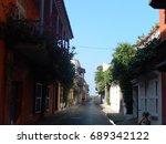 street in colombia | Shutterstock . vector #689342122