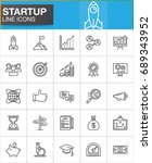 startup and new business line... | Shutterstock .eps vector #689343952