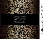 baroque background with antique ... | Shutterstock . vector #689348782