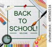 design template for back to... | Shutterstock . vector #689360116