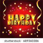 happy birthday cartoon | Shutterstock .eps vector #689360386
