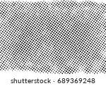 halftone dots texture... | Shutterstock .eps vector #689369248