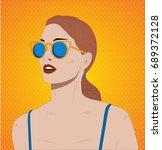 summer sexy girl  cartoon woman ... | Shutterstock .eps vector #689372128