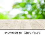 empty wooden table for product... | Shutterstock . vector #689374198