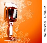 retro microphone   snowflakes | Shutterstock .eps vector #6893872
