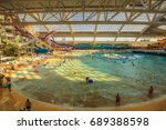 Small photo of EDMONTON, CANADA - JULY 7, 2017 : World Waterpark in the West Edmonton Mall. Its the largest shopping mall in North America and the tenth largest in the world.