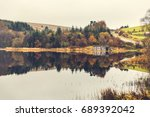 autumn panorama  trees with... | Shutterstock . vector #689392042