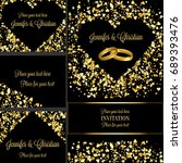 luxury wedding invitation and... | Shutterstock . vector #689393476
