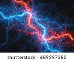 fire and ice lightning ... | Shutterstock . vector #689397382