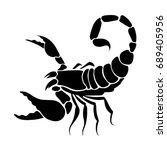 graphic scorpion  vector | Shutterstock .eps vector #689405956