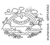 image for coloring book.... | Shutterstock . vector #689414062