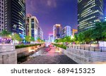 colorful city lights of... | Shutterstock . vector #689415325