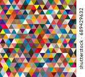 abstract geometric colorful... | Shutterstock .eps vector #689429632