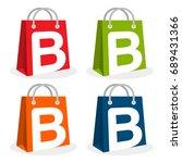 logo icon for shopping business.... | Shutterstock .eps vector #689431366