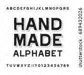 hand made alphabet font.... | Shutterstock .eps vector #689432026