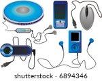 vector set of web camera  cd...