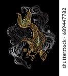 koi carp   asian spiritual... | Shutterstock .eps vector #689447782