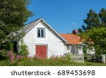 traditional rural house on... | Shutterstock . vector #689453698