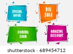vector business promotion... | Shutterstock .eps vector #689454712