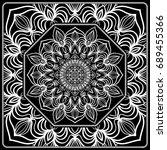 design print for kerchief. the... | Shutterstock .eps vector #689455366