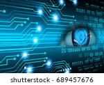 future technology  blue eye... | Shutterstock . vector #689457676