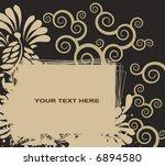 vector floral background   Shutterstock .eps vector #6894580