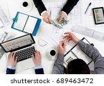 team meting | Shutterstock . vector #689463472