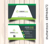 modern business card in green... | Shutterstock .eps vector #689464672