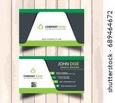 modern business card in green... | Shutterstock .eps vector #689464672